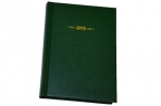"2019 Еженедельник дат, A6, 176л., балакрон,  ""Ariane"", зеленый, OfficeSpace оптом"