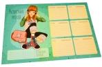 """Расписание уроков с расписанием звонков A4 ArtSpace """"Девчонки"""" оптом"""