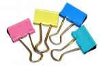 Зажимы для бумаг 19 мм цветные OfficeSpace, оптом