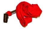 Шнурок для бейджей Berlingo, 45см, металлический клип, красный оптом