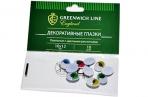"""Материал декоративный Greenwich Line """"Глазки"""", с цветными ресничками, овальные, 10*12мм, 10шт. оптом"""