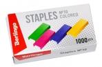 Скобы 10 Berlingo цветные, 1000шт. оптом