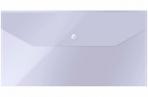 Папка-конверт на кнопке OfficeSpace С6 (135*250мм), 150мкм, прозрачная оптом