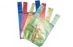 """Пакет """"4 цвета"""", полиэтиленовый, майка, 16 х 28 см, 7 мкм МИКС оптом"""