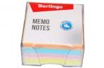 """Блок для записи Berlingo """"Standard"""", 9*9*4, 5см, в пластиковом боксе, цветной оптом"""