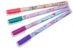 """Ручка шариковая Berlingo """"Funline. Capitals"""", синяя, 0, 7мм, рисунок на корпусе, ассорти оптом"""