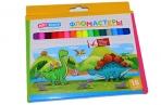 """Фломастеры ArtSpace """"Динозаврики"""", 18цв., картон, смываемые, европодвес оптом"""