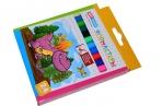 """Фломастеры 24 цвArtSpace """"Динозаврики"""", картон, смываемые, европодвес оптом"""