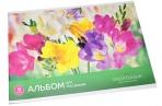 """Альбом для рисования 08л., А4, на скрепке ArtSpace """"Цветы. Яркие цветы"""", обложка-офсет оптом"""
