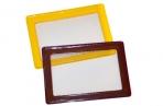 Обложка-карман для проездных документов ДПС, с цветной рамкой, 75*105мм, ПВХ, ассорти оптом