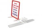 Держатель рамки POS настольный для верт. установки, прозрачный оптом