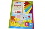 """Цветная бумага двусторонняя A4, ArtSpace, 8 листов, 8 цветов, мелованная, """"Мышка"""" оптом"""