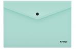 """Папка-конверт на кнопке Berlingo """"Instinct"""", А4, 180мкм, мятный оптом"""