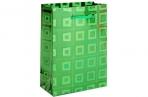 Пакет голография 8 х 11 х 4 см, цвет зелёный, рисунок МИКС оптом