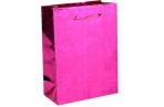 Пакет голография 8 х 11 х 4 см, цвет розовый, рисунок МИКС оптом