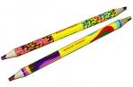 """Карандаш с многоцветным грифелем Мульти-Пульти """"Енот и радуга"""", утолщенный, двусторонний, заточен. оптом"""