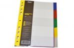 Разделитель листов А5 05цв пластик ХАТБЕР 00503 [4606782245293] (319957) оптом