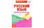 Книжка-шпаргалка по русскому языку «Орфограммы», 8 стр., 1-4 класс оптом
