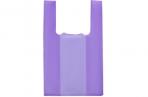 """Пакет """"Фиолетовый"""", полиэтиленовый, майка, 25 х 45 см, 10 мкм оптом"""