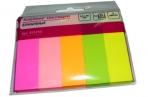 Клейкие закладки бумажные 5цв. по 50л. 14ммх50 Attache оптом