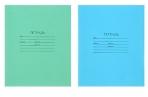 Тетрадь 12 листов линейка «Зелёная обложка», блок №2, белизна 75%, МИКС оптом