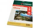 Фотобумага LOMOND д/струйной печати, А4, 220 г/м2, 50 л., двухсторонняя, глянцевая, 0102089 оптом
