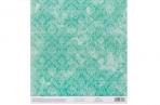 Бумага для скрапбукинга с клеевым слоем «Бирюзовый ампир», 20 ? 21, 5 см, 250 г/м оптом