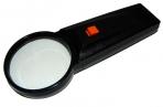 Лупа 1029 d-65мм, 6-ти крат. увел, с подсветкой (батарейка не входит) J. Otten /20 /0 /200 /0 оптом