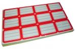 Ценники 182 красные 37х51мм, 12шт на листе, 80 листов, цена за 1 уп. /1 /0 /50 оптом