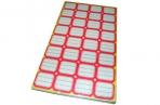 Ценники 302 красные 29х29мм, 32шт на листе, 80 листов, цена за 1 уп. /1 /0 /50 оптом