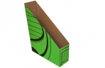Накопитель вертикальный, гофрокартон, 75 мм, зеленый оптом