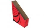 Накопитель вертикальный, гофрокартон, 75 мм, красный оптом