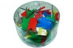 Кнопки силовые 1026 (486А) с флажком, цветные, пластик, 60шт J. Otten /12 /0 /360 оптом