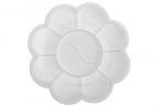 Палитра «Цветочек», 9 ячеек, «Ромашка», белая оптом