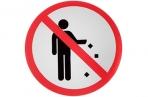 """Наклейка знак """"Не мусорить"""", 18х18 см 4150922 оптом"""