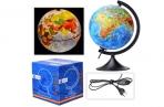 Глобус физико-полит 210мм Классик подсветка GLOBEN 012100089 оптом