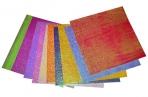 Бумага цветная 150х150 мм, 10 листов, 10 цветов, блестящая, однотонная, ОПП-упаковка оптом