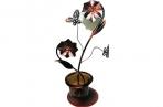 "Подсвечник 12016 ""Бабочки"" на 1 свечу, металл+стекло /1 /0 /48 оптом"