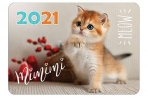 "2021 Календарь карманный 70*100 2021 ""Котята"" HATBER оптом"