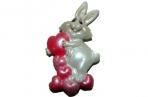 """Магнит-полистоун UW106-09231A 4см """"Кролик с сердечками"""", 4 асс /24 /0 /576 оптом"""