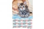 2019 Календарь-плакат А2 420*594 мм Кошки. оптом