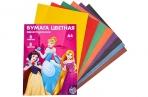 Бумага цветная односторонняя «Принцессы Дисней», А4, 8 л., 8 цв., Принцессы, 48 г/м2 оптом