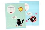 Тетрадь 18клетка «Кот тут!», картонная обложка, МИКС оптом