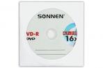 Диски DVD-R SONNEN, 4, 7 Gb, 16x, бумажный конверт (1 штука), 512576 оптом