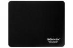 """Коврик для мыши SONNEN """"BLACK"""", резина + ткань, 220х180х3 мм, 513309 оптом"""