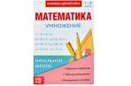 Шпаргалка по математике «Умножение» для 1-4 кл., 12 стр оптом
