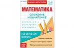 Шпаргалка по математике «Сложение и вычитание» для 1-4 кл., 12 стр. оптом