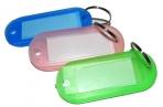 Бирка для ключей YIWU пластик., полупрозр., скруглен. углы, ассорти оптом