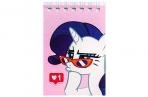 Блокнот А7, 32 листа на гребне, «Рарити», My Little Pony оптом