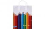 """Пакет """"Карандаши"""", полиэтиленовый с петлевой ручкой, 28x34 см, 60 мкм 5221762 оптом"""